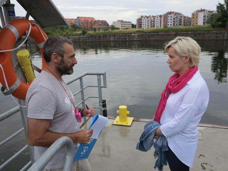 Audytor Evangelos Roussos z kierownikiem gdańskich marin